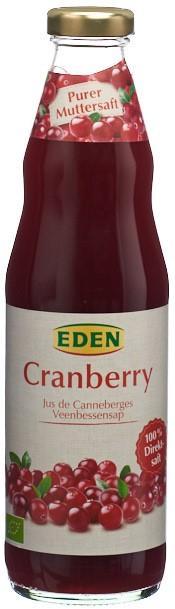 EDEN Cranberry Mutters o Zucker unverdü Bio 750 ml
