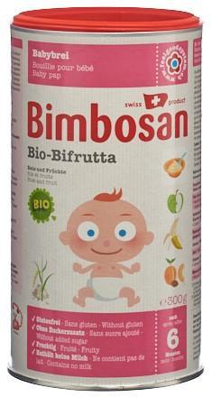BIMBOSAN Bio Bifrutta Plv Reis + Früchte Ds 300 g