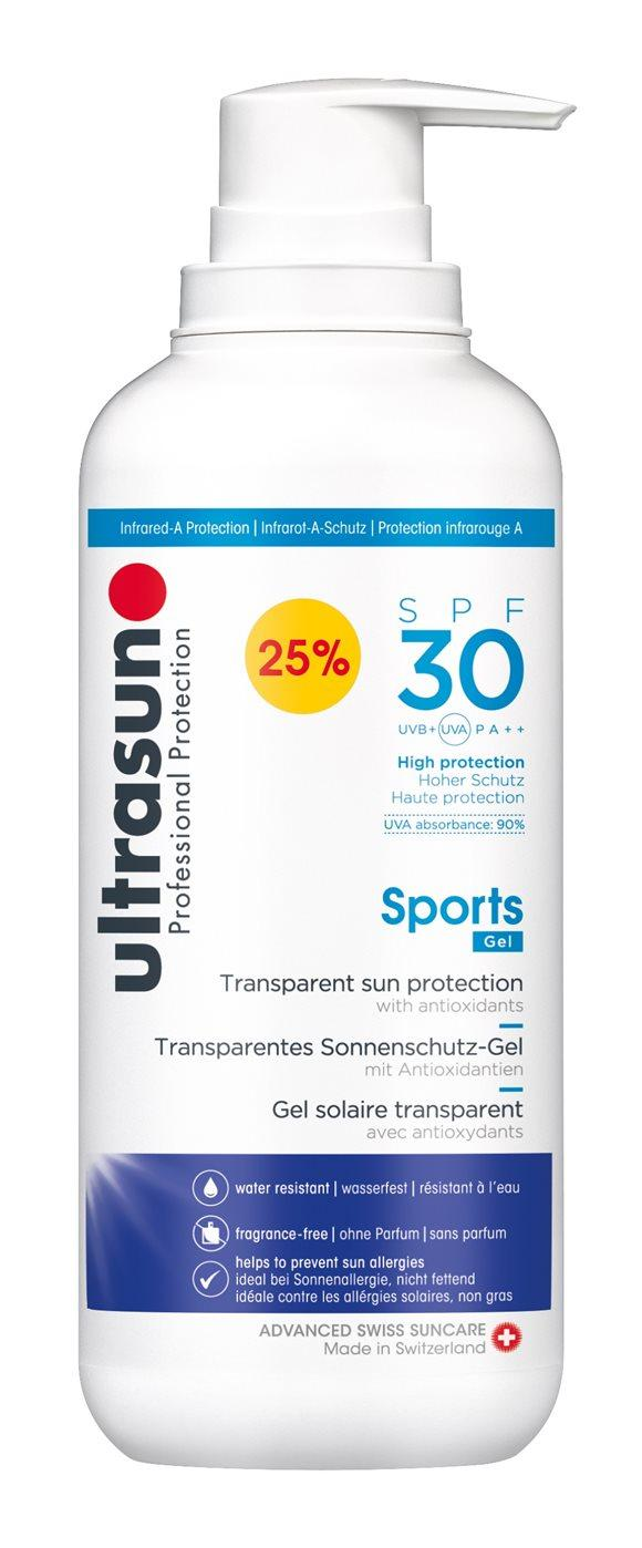 ULTRASUN Sports Gel SPF 30 -25% Disp 400 ml