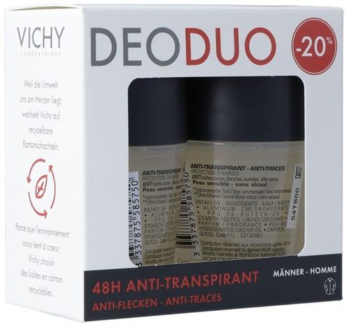 VICHY Homme Deo Anti-Fleck Roll on -20% 2 x 50 ml