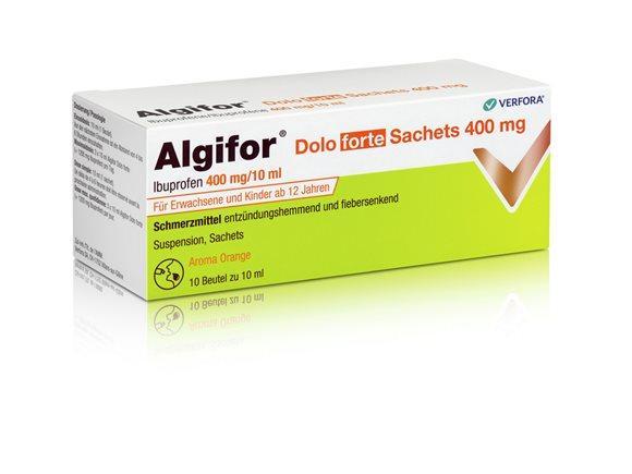 ALGIFOR Dolo forte Susp 400 mg/10ml 10 Btl 10 ml