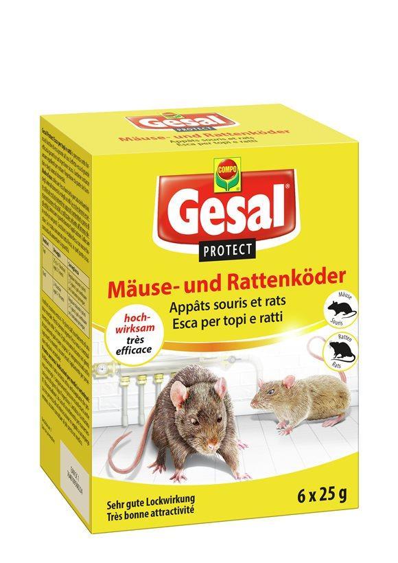 GESAL PROTECT Mäuse und Rattenköder 6 x 25 g