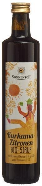 SONNENTOR Kurkuma-Zitronen Sirup Glasfl 500 ml