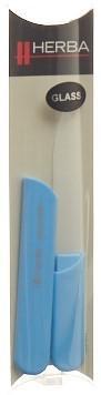 HERBA Glasnagelfeile mit Schutzkappe 13cm hellblau