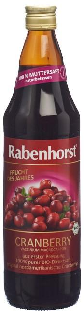 RABENHORST Cranberry Muttersaft Bio Fl 750 ml