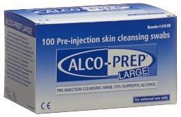 L&R Alco-Prep Pre-injektions Tupfer GrL 100 Stk