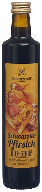 SONNENTOR Schwarztee-Pfirsich Sirup 500 ml