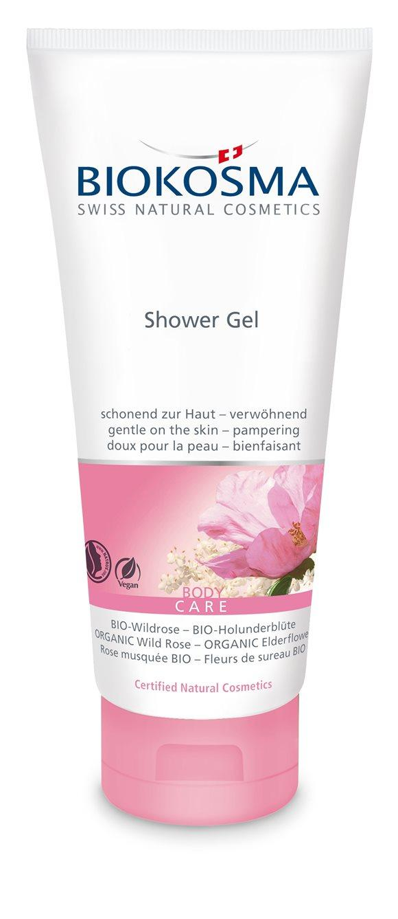 BIOKOSMA Shower Gel BIO-Wildrose Holunderbl 200 ml