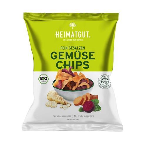 HEIMATGUT Gemüse Chips fein gesalzen 100 g