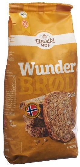 BAUCKHOF Wunderbrot Gold m Kurkuma glutenfr 600 g