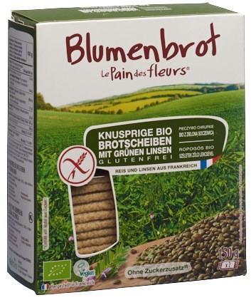 BLUMENBROT Knusprige Schnitten grüne Linsen 150 g