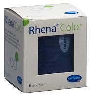 RHENA Color Elastische Binden 6cmx5m blau