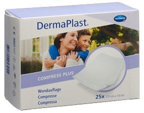DERMAPLAST Compress Plus 7.5x10cm 25 Stk