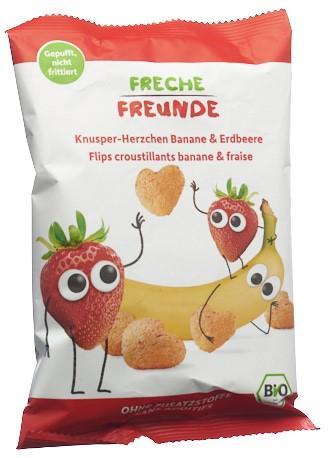 FRECHE FREUNDE Knusper-Herzchen Banane&Erdb 30 g