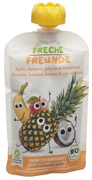 FRECHE FREUNDE Quetschmus Apf Ban Anan&Kokos 100 g