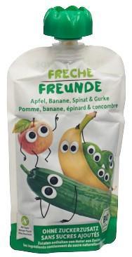FRECHE FREUNDE Quetschmus Apf Ban Spin&Gurk 100 g