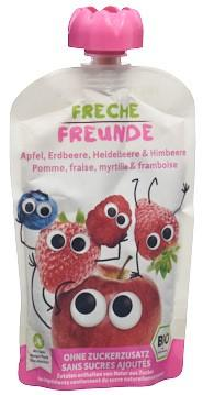FRECHE FREUNDE Quetschmus Apf Erdb Bla&Him n 100 g