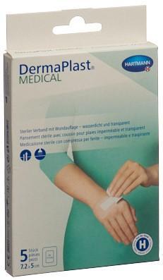 DERMAPLAST Medical Transparentverba 7.2x5cm 5 Stk