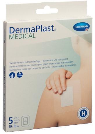 DERMAPLAST Medical Transparentverband 10x9cm 5 Stk