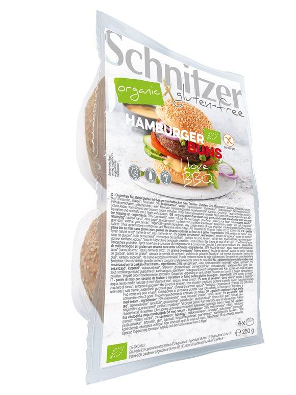SCHNITZER Bio Hamburger Buns Btl 250 g