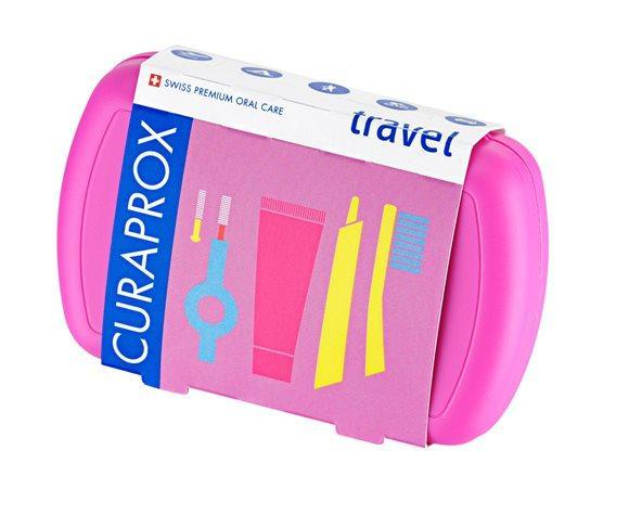 CURAPROX Travel Set rosa