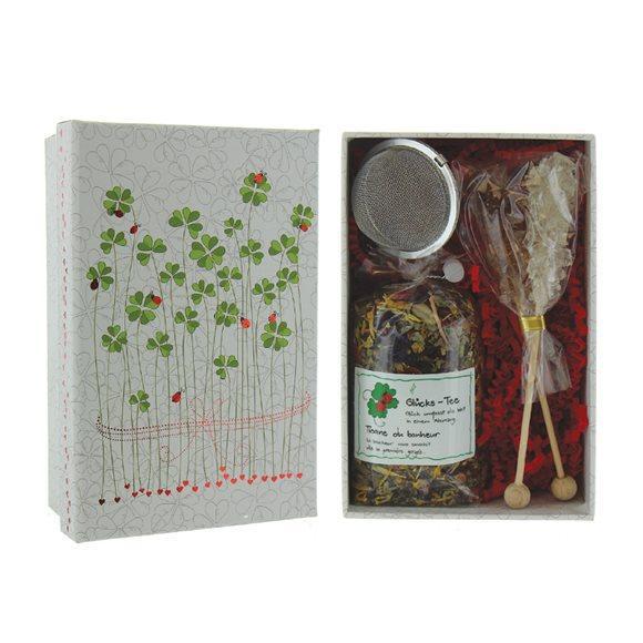 HERBORISTERIA Box Viel Glück Tee Sieb Kandis